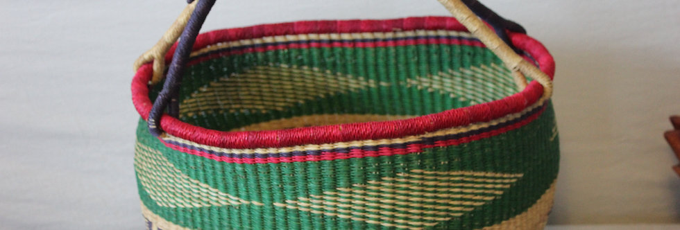 African Market Basket- Rainbow