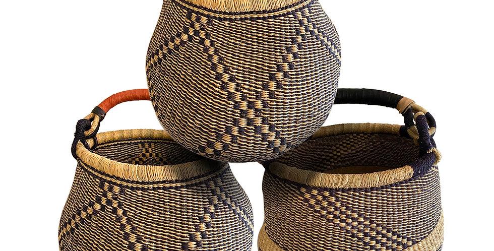 Pot Design Bolga African basket (2 Tone)
