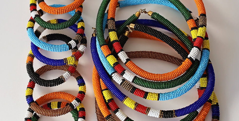 Maasai Necklace Bracelet set