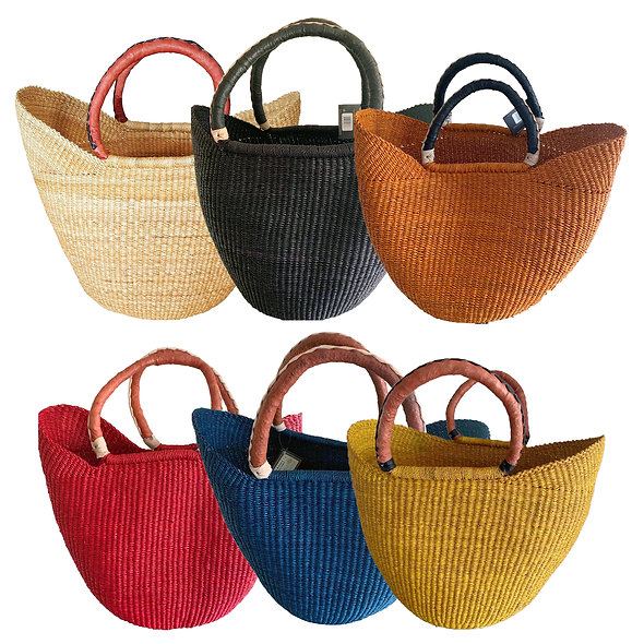 African Market Basket -Wing  shopper (Colors Vary) 1 EA