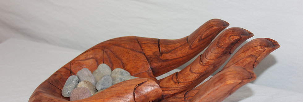 Wood carved hands from Bali- 14inches