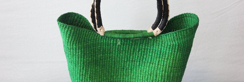 GREEN African Market Basket -Wing  shopper