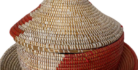 Lidded Basket- Sold Individually- Assorted