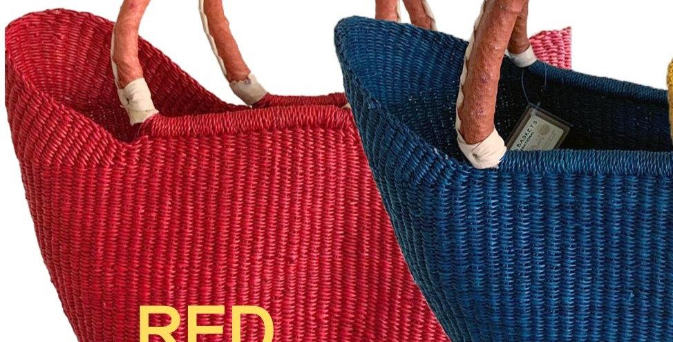 RED-African Market Basket -Wing  shopper  1 EA