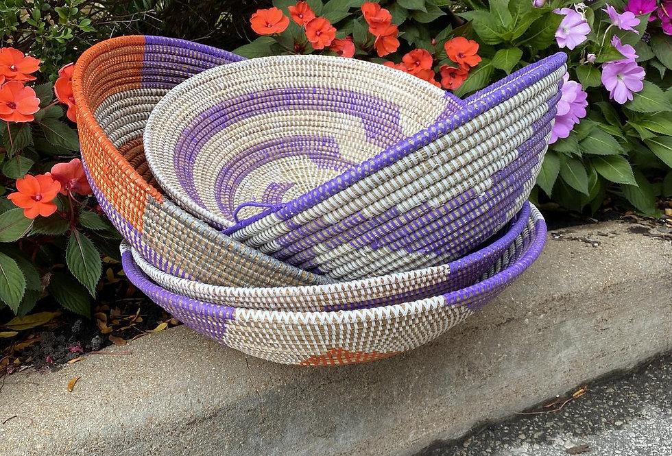 Sweet Grass Basket- Large- Multicolor-1each