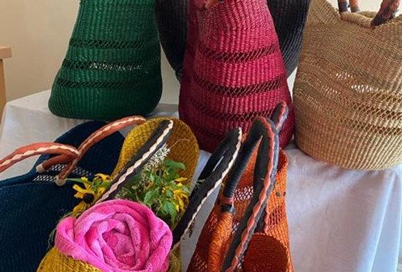 African Market Basket -Wing  shopper (Colors Vary) 1 EA
