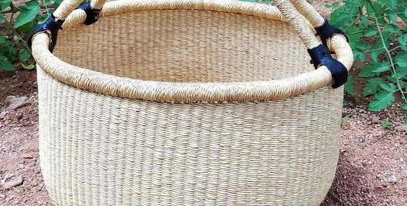 NATURAL-Dye Free African market basket.