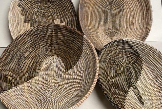 Sweet Grass Basket-Natural-Set of 3
