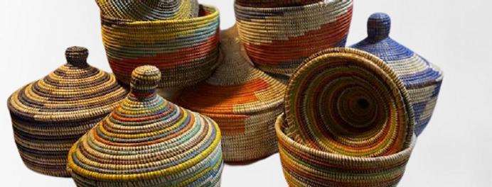 Lidded Basket- Sold Individually