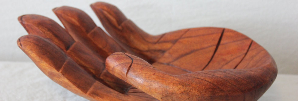 Wood carved hands from Bali- 12inches