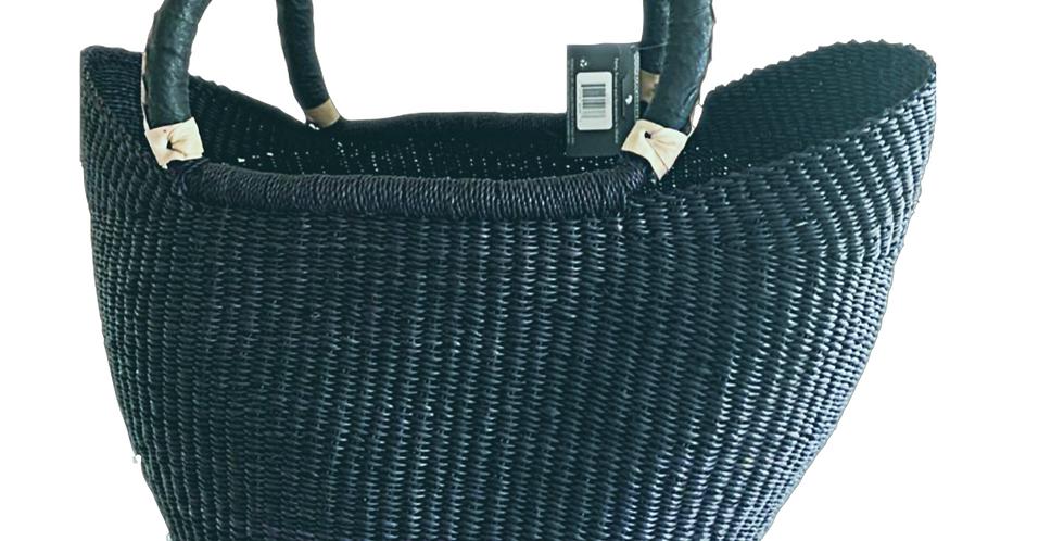 Turquoise African Market Basket -Wing  shopper
