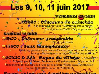 LANNEPLAÀ en fête  -  Les 9, 10, 11 juin