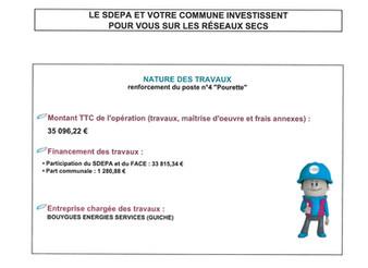 TRAVAUX DE RENFORCEMENT ÉLECTRIQUE 2020