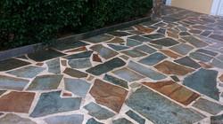 Brown-green karystos stones