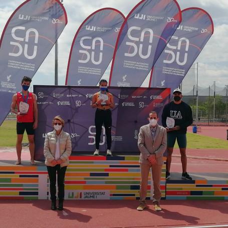 La universidad de Valencia campeona por equipos en el CADU de atletismo