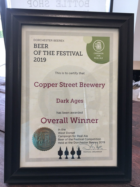 OUR VANILLA PORTER TAKES 1ST PLACE AT THE DORCHESTER BEEREX 2019!