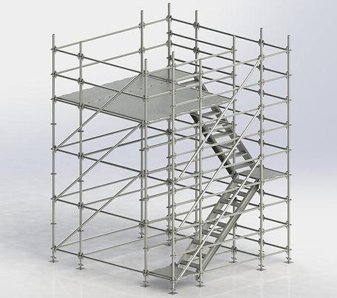 Steel and aluminium scaffolding