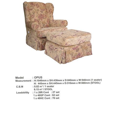 Opus Arm chair and ottoman