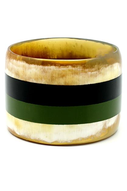 Bracelete laqueado verde
