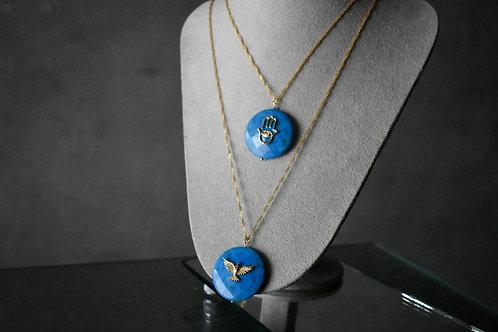 Colar Howlita azul