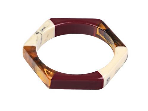 Bracelete Resina Geométrico