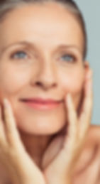 Portrait of mature woman with perfect sk
