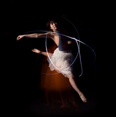 Dancer with lights