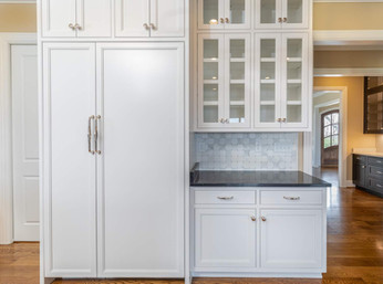 Refrigerator and Freezer complete with custom cabinet paneling