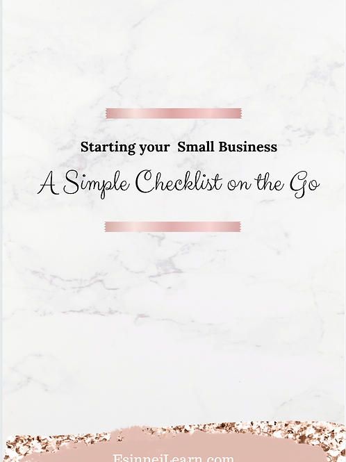 Starting Your Small Business Checklist