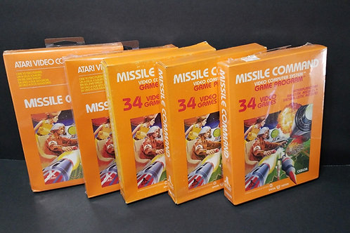 Missile Command you get all 5 (won't separate)