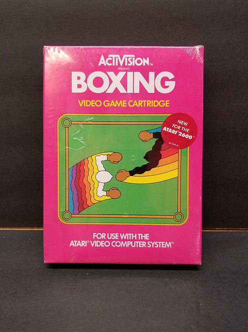 Boxing with promo sticker