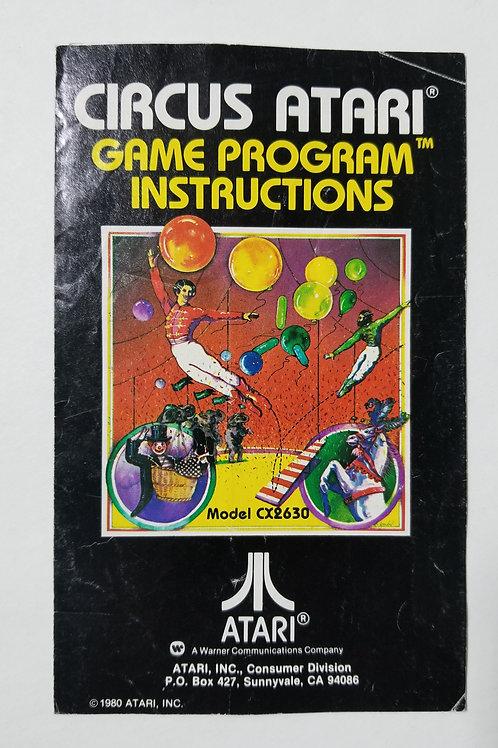 Circus Atari Pamphlet