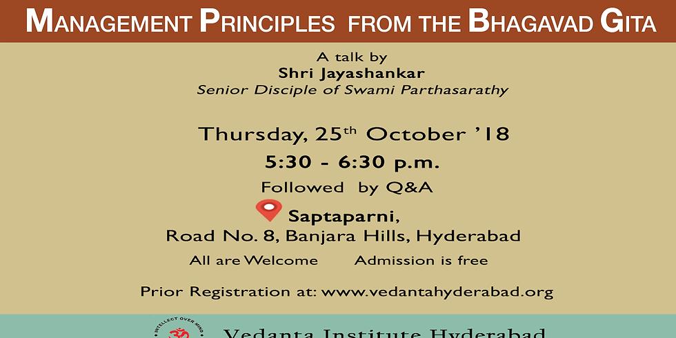 Management Principles from the Bhagavad Gita