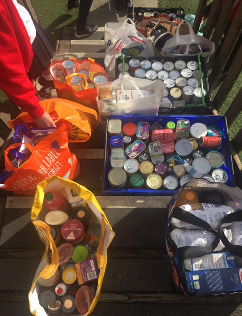 Barons Court Primary School collected quite a haul!