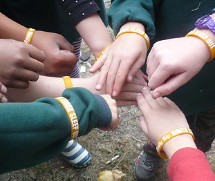 Fundraisers show of Really Big South Essex Sleep Out wristbands