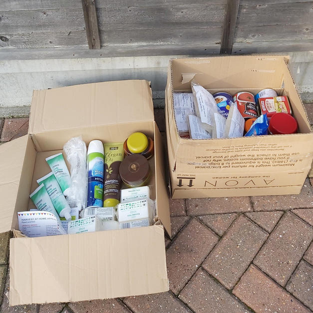Robert's Harvest at Home collection, donated by his neighbours