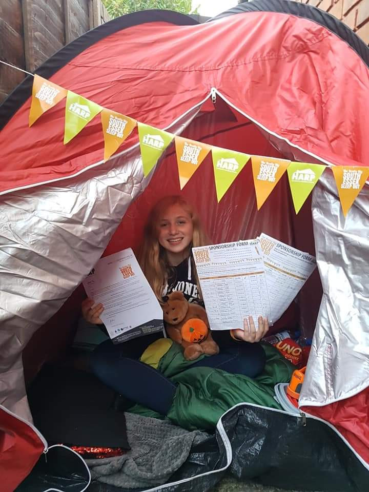 Sommer participated in The Really Big South Essex Sleep Out in 2018