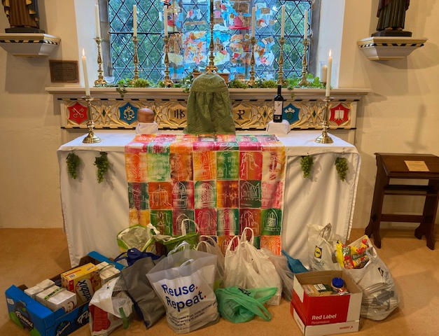 The food collection at St Peter & St Paul Hockley