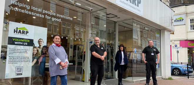 HARP's New Furniture & Charity Shop is now OPEN on Southend High Street