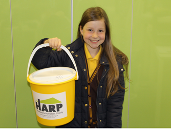 Inspiring 10 year old raises cash for HARP