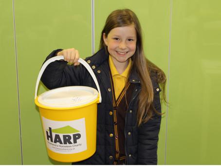 Inspiring 10 year old raises cash for HARP