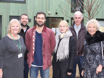 Local actor Alex Hassell visits HARP, Southend's Homeless Charity