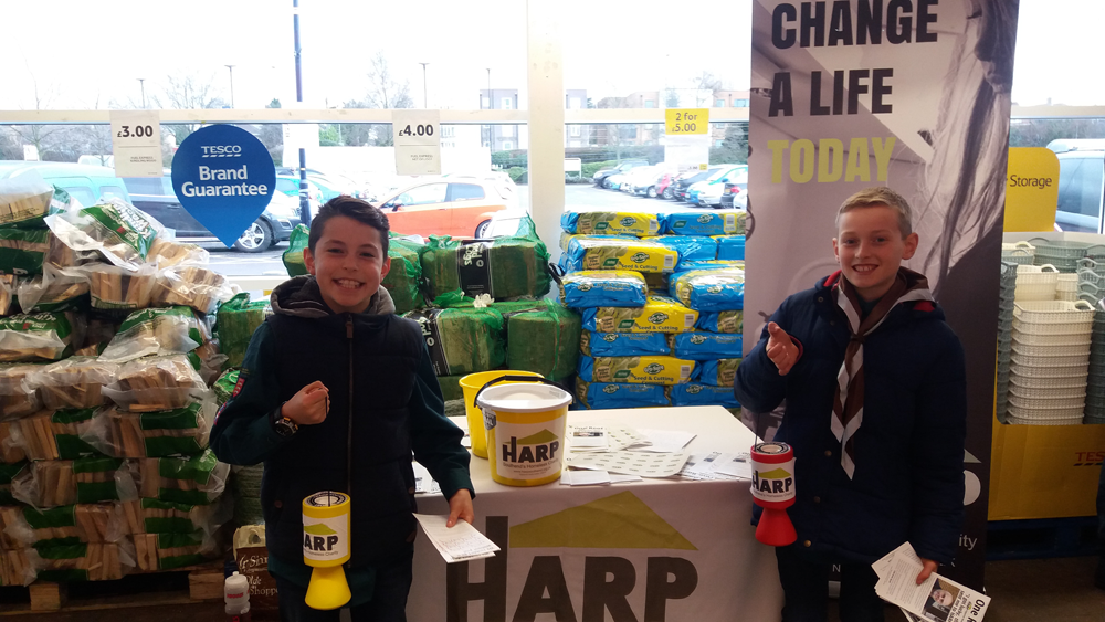 Community fundraising for HARP
