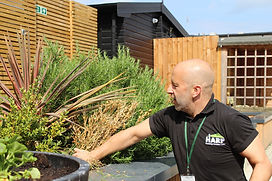 HARP staff gardening at Bradbury Day Centre for homeless people in Southend