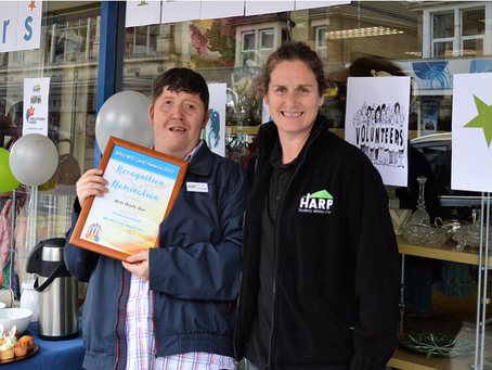HARP receive recognition for commitment to volunteers