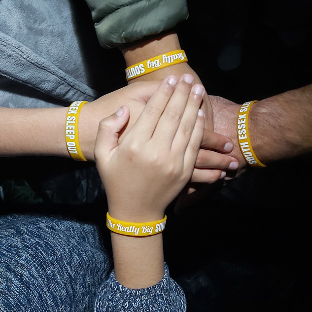 The free wristbands given to Sleep Out participants