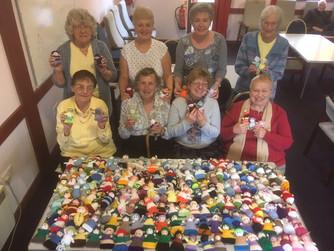 Volunteers knit 189 figures for HARP's Christmas tree!