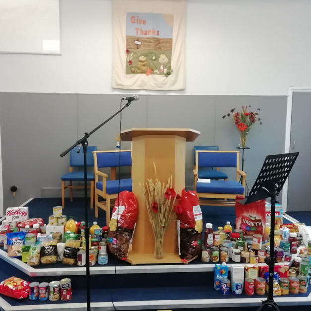 The food collection at Great Wakering Evangelical Church