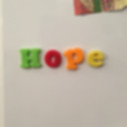 HOPE magnets on fridge