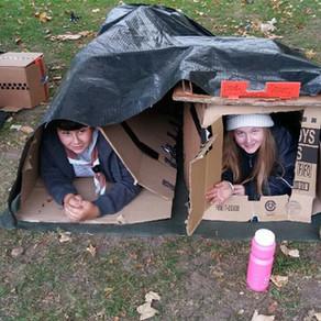 DIY cardboard tents